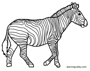 Realistic Zebra Coloring PagesZebra Head Coloring Pages