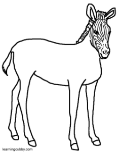 zebra without stripes colouring pages  page 2 Zebra Coloring Page